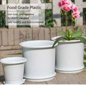 Meshpot 6.3 Inch Plastic Orchid Pots with Holes,